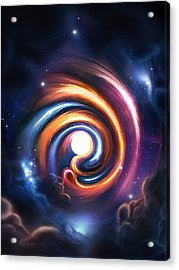 Allah  Enlightenment  Acrylic Print by Ahmer Farooqui