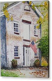 Allaire Carpenter Shop Acrylic Print by Ally Benbrook