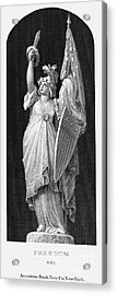 Allegory: Columbia, 1870 Acrylic Print by Granger