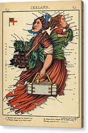 Allegory Of Ireland Acrylic Print