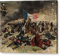 Allegory Of The Siege Of Paris Acrylic Print by Jean Louis Ernest Meissonier