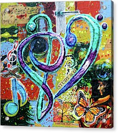 Allegretto Opus Study In G Acrylic Print