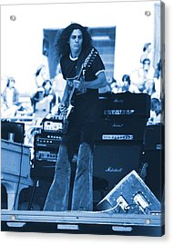 Allen Collins In Blue Oakland 1975 Acrylic Print