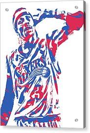 Allen Iverson Philadelphia 76ers Pixel Art 14 Acrylic Print
