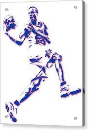Allen Iverson Philadelphia Sixer Pixel Art Acrylic Print by Joe Hamilton