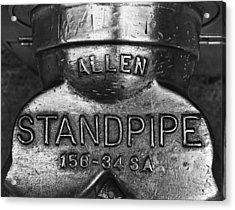 Allen Standpipe Acrylic Print by Robert Ullmann