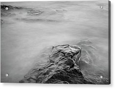 Acrylic Print featuring the photograph Allens Pond Xii Bw by David Gordon