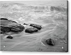 Acrylic Print featuring the photograph Allens Pond Xiii Bw by David Gordon