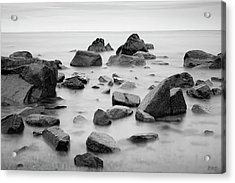 Acrylic Print featuring the photograph Allens Pond Xiv Bw by David Gordon