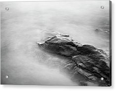 Acrylic Print featuring the photograph Allens Pond Xv Bw by David Gordon