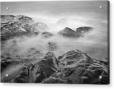 Acrylic Print featuring the photograph Allens Pond Xvi Bw by David Gordon