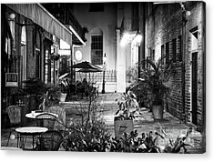 Alley Dining Acrylic Print by John Rizzuto