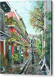 Alley Jazz Acrylic Print by Dianne Parks