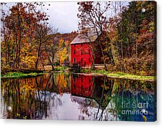 Alley Mill And Alley Spring In Autumn Acrylic Print