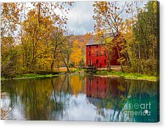 Alley Mill And Spring Acrylic Print