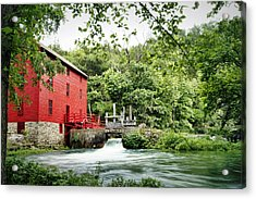 Alley Spring And Mill Acrylic Print by Cricket Hackmann