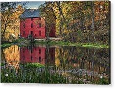 Alley Spring Mill Fall Mo Dsc09240 Acrylic Print