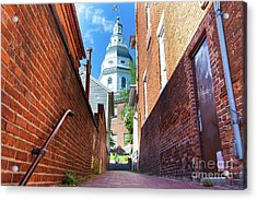 Alley View Of Maryland State House  Acrylic Print
