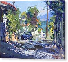 Alleyway By Lida's House Greece Acrylic Print
