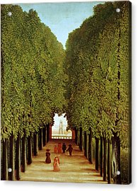 Alleyway In The Park Acrylic Print by Henri Rousseau