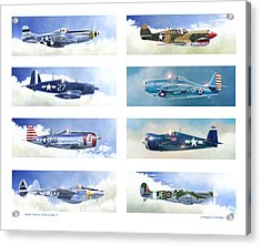 Allied Fighters Of The Second World War Acrylic Print by Douglas Castleman