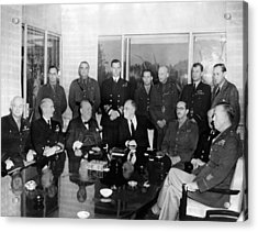 Allied Nations War Strategy Conference Acrylic Print by Everett