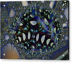 Allien Gears Acrylic Print by Frederic Durville