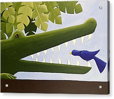 Alligator Nursery Art Acrylic Print by Christy Beckwith