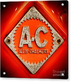 Allis Chalmers Badge Acrylic Print by Olivier Le Queinec