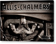 Allis Chalmers Grunge Acrylic Print by Olivier Le Queinec