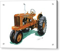 Allis Chalmers Tractor Acrylic Print