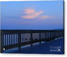 Acrylic Print featuring the photograph Alls Quiet On The Beach Front by Emmy Marie Vickers