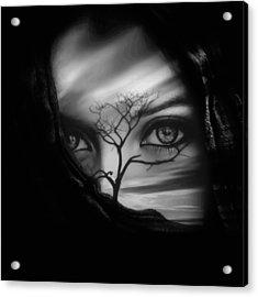 Allure Of Arabia Black Acrylic Print