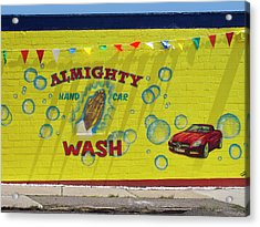 Almighty Car Wash Acrylic Print by David Kyte