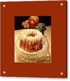 Almond Cheese Pound Cake Acrylic Print by Sena Wilson