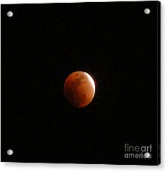 Almost Eclipsed Acrylic Print by Sibby S