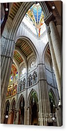 Almudena Cathedral Interior In Madrid Acrylic Print