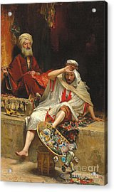 Alnaschar's Fortune, Arabian Nights, 1879 Acrylic Print by William Ewart Lockhart