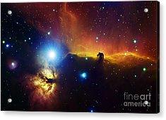 Alnitak Region In Orion Flame Nebula Acrylic Print by Filipe Alves