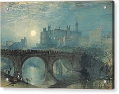 Alnwick Castle Acrylic Print by Joseph Mallord William Turner