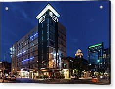 Acrylic Print featuring the photograph Aloft Louisville by Randy Scherkenbach