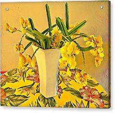 Aloha Bouquet Of The Day - Yellow Wild Flowers Acrylic Print