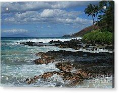 Aloha Island Dreams Paako Beach Makena Secret Cove Hawaii Acrylic Print