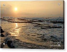 Aloha Oe Sunset Hookipa Beach Maui North Shore Hawaii Acrylic Print by Sharon Mau
