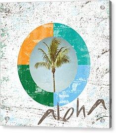 Aloha Palm Tree Acrylic Print