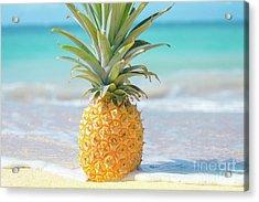 Acrylic Print featuring the photograph Aloha Pineapple Beach by Sharon Mau