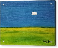 Acrylic Print featuring the painting Alone And Fine by Judith Rhue