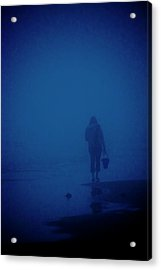 Alone By The Sea Acrylic Print by Mary Lee Dereske
