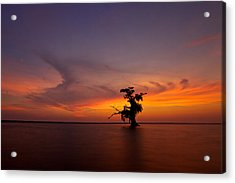 Acrylic Print featuring the photograph Alone by Evgeny Vasenev