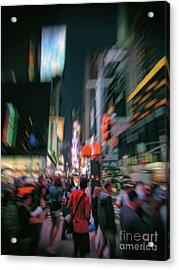 Alone In New York City 1 Acrylic Print by Jeff Breiman